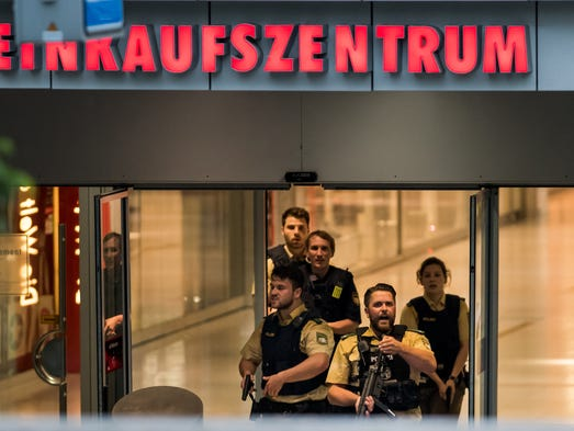 at least 9 killed in Munich Shooting Rampage, 1 may be attacker