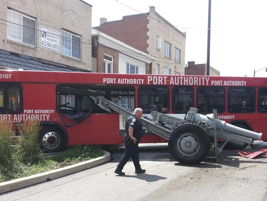 Bus Hits Cannon