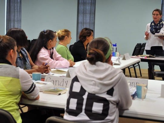Times Record News file photo, a volunteer instructor teaches a Career Academy class at Faith Refuge.