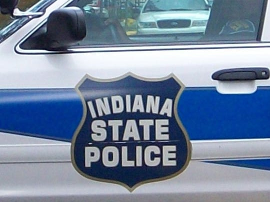 Indiana State Police trooper's car.