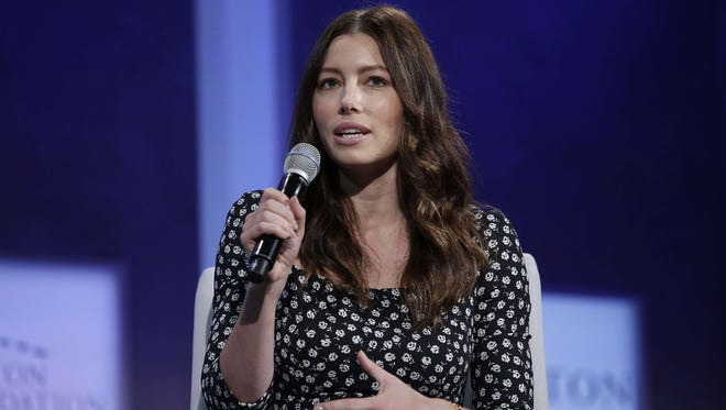 Actress Jessica Biel speaks during the Clinton Global Initiative annual meeting September 28, 2015 in New York.