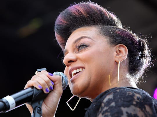 Singer Marsha Ambrosius performs at the Music Matters Stage during the 2013 BET Experience at L.A. LIVE on June 29, 2013 in Los Angeles.