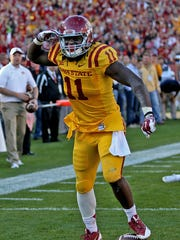 At No. 217 on the Sports Illustrated top 300 NFL Draft prospects list is Iowa State tight end E.J. Bibbs.