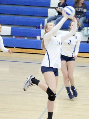 Emily Cox led in kills for the Lady Colts on Thursday's match with Deming.