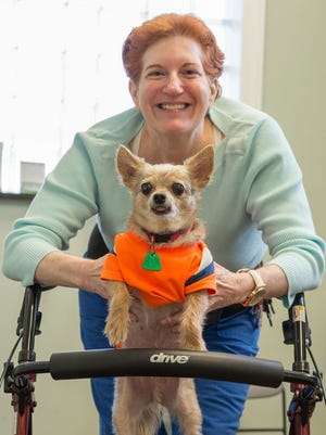 Valerie Lindsay and her canine pal Papito.