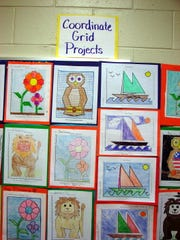 Coordinate Grids were among the projects displayed during Achievement Night at Petway Elementary School.