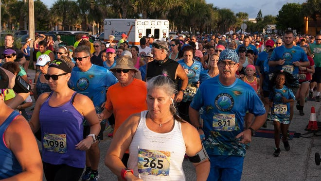 Runners in the 2016 Turtle Krawl 5K. This year's race, the biggest 5K in Brevard County, has been canceled.