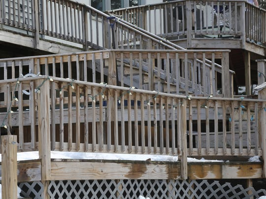 The Hartwigs' six-level deck has been a source of contention between them and the city.