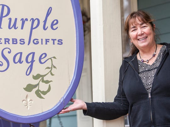 Elizabeth Barbato owns Purple Sage Herbs and Gifts in Middletown.