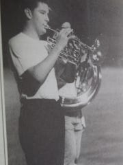 A member of the Union County Band of Braves played