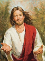 """Smiling Jesus"" by Bob Berran, currently on display"