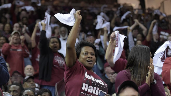 South Carolina hosts Savannah State during the 1st round of the NCAA Tournament Friday, March 20, 2015 at Carolina's Colonial Life Arena.