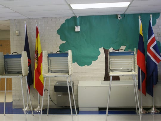 Empty voting booths at Whitehall Elementary on Tuesday afternoon symbolized the low voter turnout in the special election for a vacant seat on the Anderson City Council.