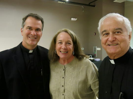 The Rev. Peter Mangum, Mary Caplis, Msgr. J. Carson LaCaze at Bingo on the Bayou.