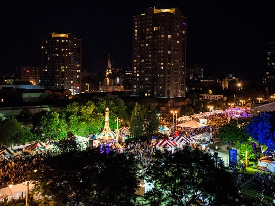 Bastille Days is a popular summer festival held in Milwaukee's Cathedral Square Park area every July.