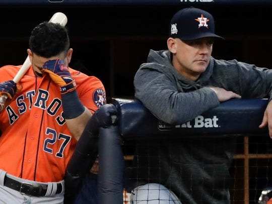 Jose Altuve and A.J. Hinch