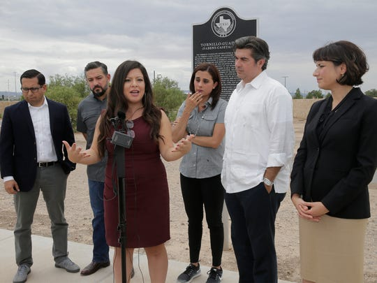 Members of the Mexican American Legislative Caucus (MALC) toured the 'tent city' at the Tornillo Port of Entry Friday morning. The tent city continues to operate and house unaccompanied minors a month after the original contract with private operators was set to expire. MALC members included State Rep. Diego Bernal (San Antonio), State Rep. Cesar Blanco (El Paso), State Rep. Mary Gonzalez, Vice-Chair of the Mexican American Legislative Caucus, State Rep. Ina Minjarez (San Antonio), State Rep. Eddie Rodriguez, Policy Chair of the Mexican American Legislative Caucus and State Rep. Gina Hinojosa (Austin).
