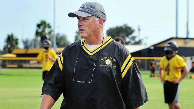 Merritt Island High's head football coach Jeff McLean.