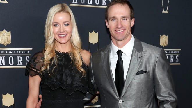 MINNEAPOLIS, MN - FEBRUARY 03:  Brittany Brees and NFL Player Drew Brees attend the NFL Honors at University of Minnesota on February 3, 2018 in Minneapolis, Minnesota.  (Photo by Christopher Polk/Getty Images)