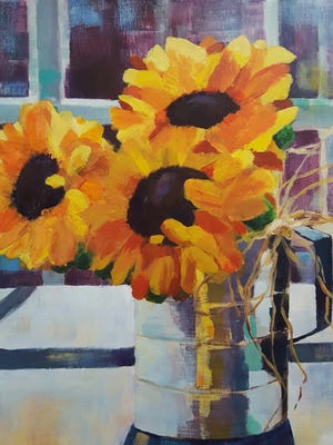 A painting by participating artist Sally Wimberly.