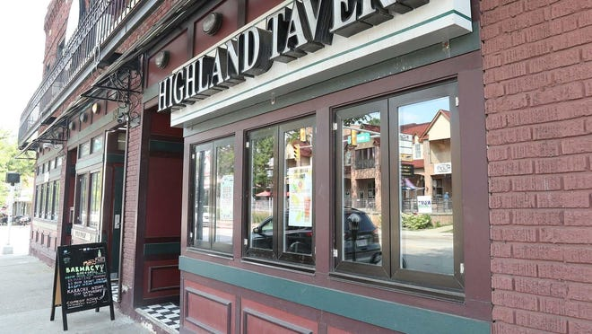 The Highland Tavern in Akron on Wednesday.