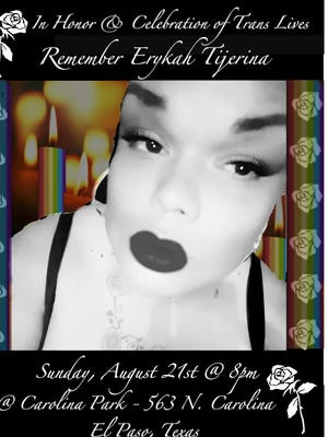 Family and friends of Erykah Tijerina held a memorial in her honor and to celebrate the lives of transgender people at Carolina Park in the Lower Valley in late August 2016.