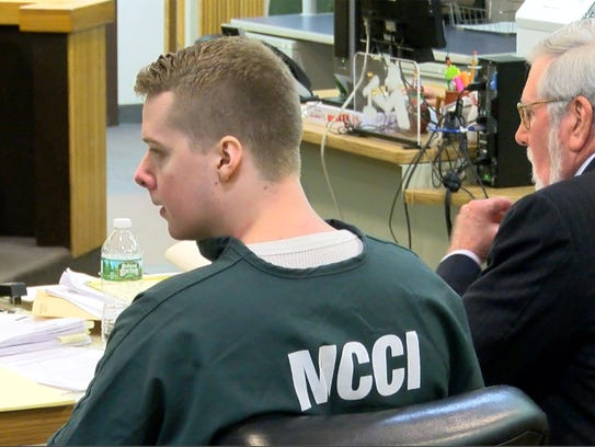 Liam McAtasney at a hearing before Superior Court Judge