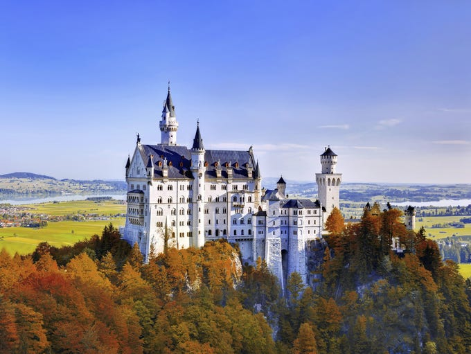 Europe is home to some of the world's most beautiful architectural masterpieces, many in the form of castles. Neuschwanstein, in Germany's Bavarian region, was originally built as a refuge from the public eye for King Ludwig II. Today, well over a million visitors pass through its halls each year.