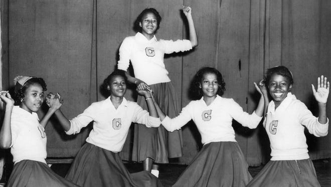 Budenia Kinkacha, front left, Delores Wallace, Mary Jean Lacey, Johnnie Ewing and Eva Fuqua, in back.