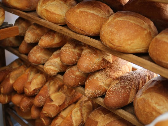 Fresh baked bread at the Brooklyn Bread shop on South