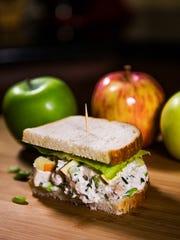 Chef Robin Miller made some creamy chicken-apple salad