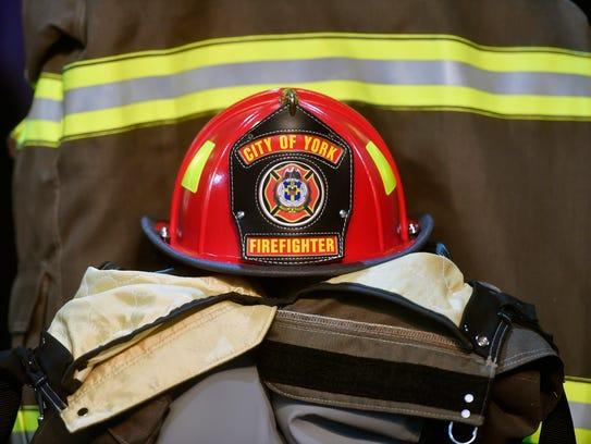 York City firefighter Zachary Anthony's helmet and