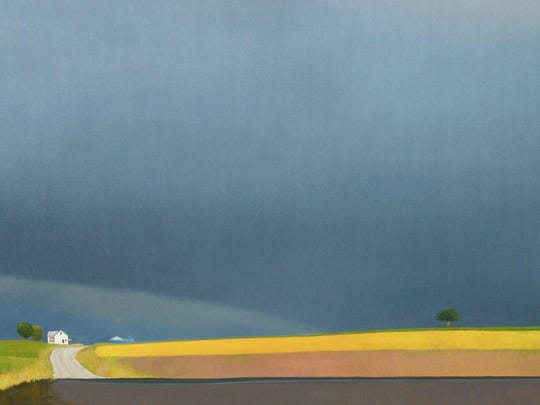This painting by Wisconsin-based artist Andy Fletcher that will be for sale at the 2015 Ann Arbor Art Fair.