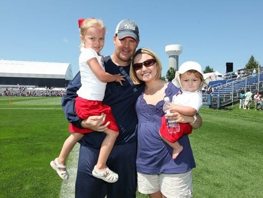 This 2009 picture was taken at New England Patriots