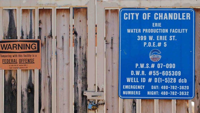This well, located at Nebraska and Erie Streets in central Chandler, is the oldest in the city's system. It has been providing drinking water for Chandler residents since 1948.