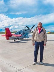 The P-51C Red Tail Mustang will be on display at the Liberty Aviation Museum.