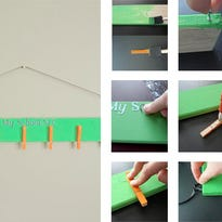 Help your pint-sized Picassos make their own personal art hanger.