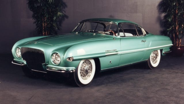 Ghia, the famous Italian coachbuilder, designed the 1954 Plymouth Explorer. This one will be part of the Arizona Concours d'Elegance in January.