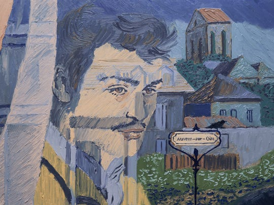 Armand Roulin (Douglas Booth) arrives in Auvers-sur-Oise, France, by train in 'Loving Vincent.'