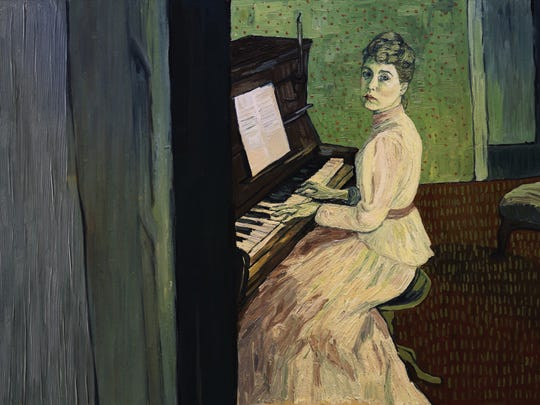 Marguerite Gachet (Saoirse Ronan) at the piano in 'Loving Vincent.'