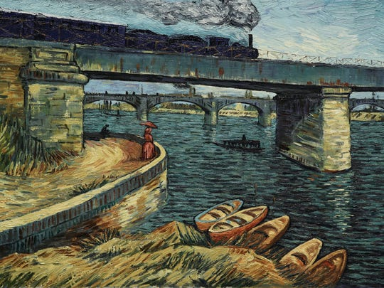 """Loving Vincent"" comprises 65,000 frames hand-painted by a team of 125 artists."
