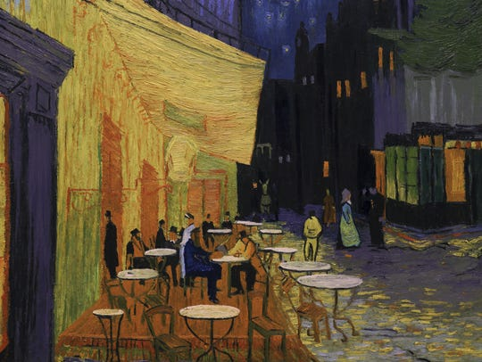 Still painting scene from the feature film Loving Vincent.