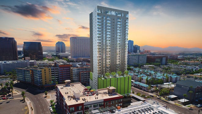Construction has started on a 30-story apartment tower called the Link Phx on the northeast corner of Third and Pierce streets. Shown here in an artist's rendering, it will bring 257 more apartments and 7,000 square feet of retail space to the area. Construction is expected to be completed in August 2019.