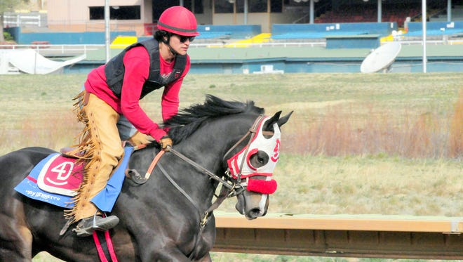 Acclimating horses to the high altitude is part of the training for racing at Ruidoso Downs.
