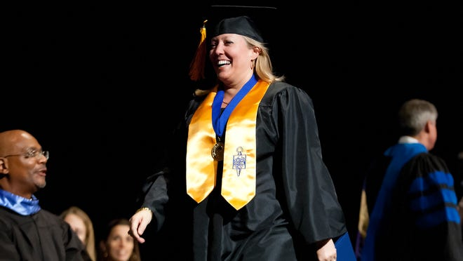 Sheryl Stiles was among the 140 Keiser University students who graduated Friday during the university's commencement at the Harborside Event Center in downtown Fort Myers.