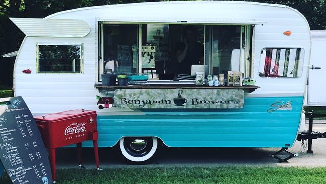 The littlest of the four businesses is a new mobile coffee business called Benjamin Brewer.