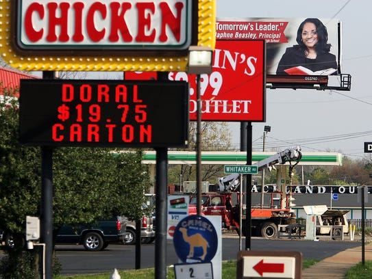 March 21, 2007 -Businesses line Elvis Presley Boulevard