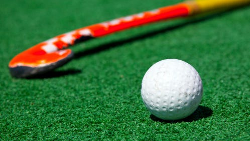 A stock image of a field hockey.