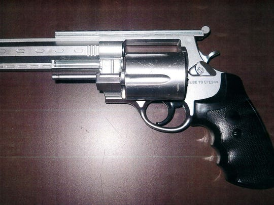 The toy gun used in the incident.