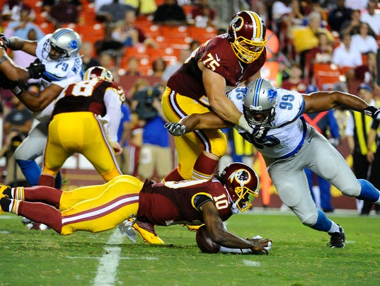 USP NFL: PRESEASON-DETROIT LIONS AT WASHINGTON RED S FBN USA MD